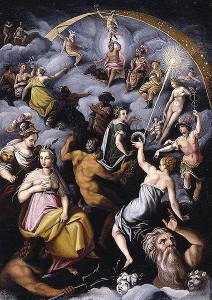 The Assembly of Gods - Jacopo Zucchi